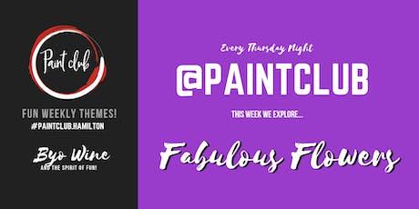 Fabulous Flowers @ Paint Club tickets