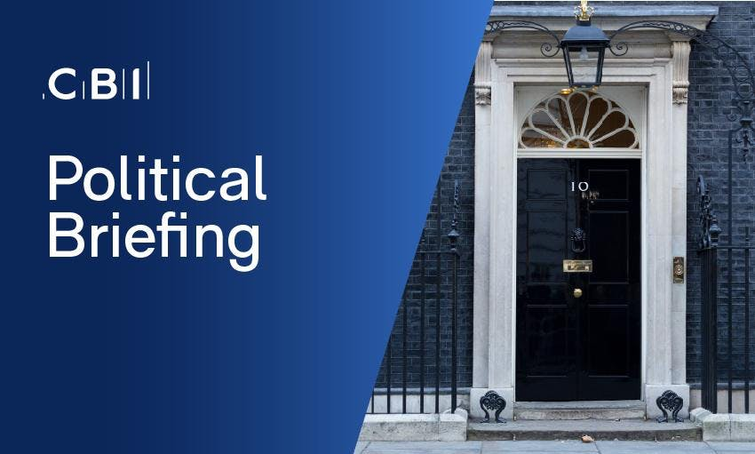 Political Briefing with CBI Director of Campaigns, John Foster