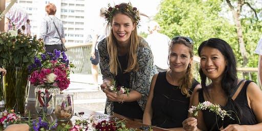 Blumenkranz-Workshop für euren Junggesellinnenabschied
