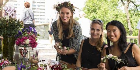 Blumenkranz-Workshop für euren Junggesellinnenabschied - 15 Uhr Tickets