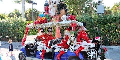 Red White & Blue Golf Cart Parade