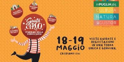 Gusto Circo - Storie di Pane e Briganti, ITINERARIO DEL 18 MAGGIO