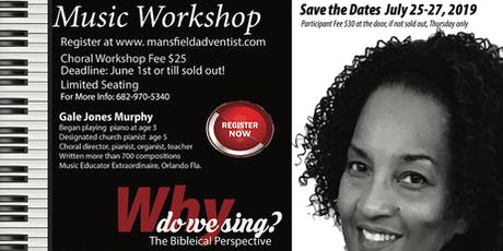 Music Workshop: Why Do We Sing? The Biblical Perspective tickets