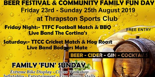 Thrapston Beer & Cider Festival & Family Community Fun Sunday