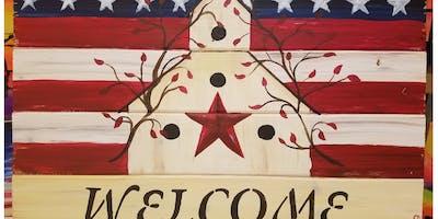 Americana Welcome Paint & Sip @ Covered Bridge Inn, Palmerton
