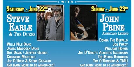 John Prine & Steve Earle Headline Rockland-Bergen Music Festival tickets