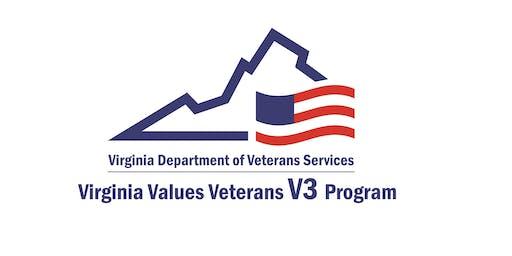 Virginia Values Veterans (V3) Employer Training Event