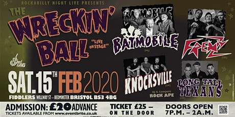 The Wrecking Ball - Psychobilly Extravaganza  tickets