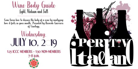 Aperitivo Italiano: Wine Body Guide, Light, Medium and Full tickets