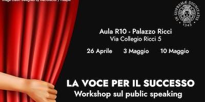 La voce per il successo: Workshop sul public speaking