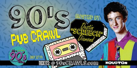 "90's Pub Crawl | Host: Dustin ""Screech"" Diamond 
