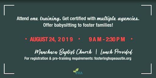 Foster Care Babysitting Certification Training August 2019