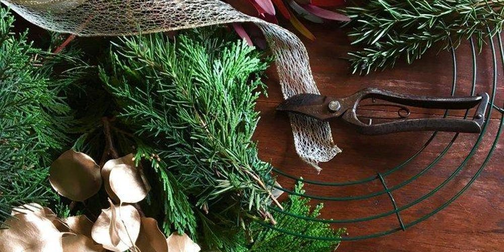 Making Christmas.Torbay Christmas Wreath Making Workshop