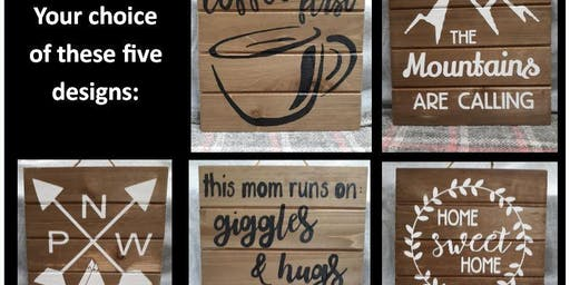 Sip & Craft: Sign Painting