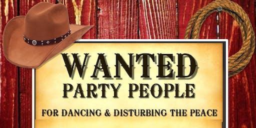 WANTED & SPLASH -  WILD WEST PARTY - FANCY DRESS REUNION