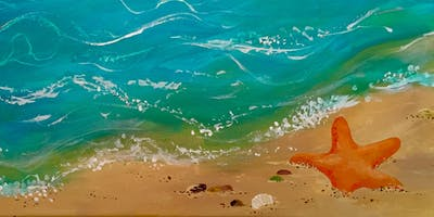 STARFISH SEA Sip & Paint with Instructors Marti Green & Michele Sleight