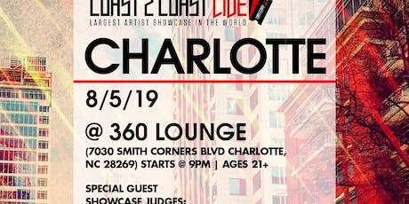Coast 2 Coast LIVE Artist Showcase Charlotte, NC - $50K Grand Prize tickets