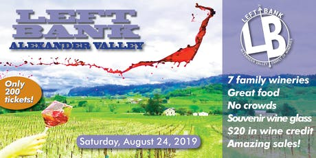 Left Bank Alexander Valley 2019 tickets
