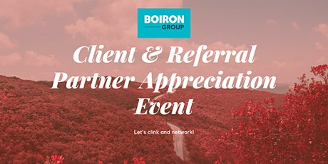 Boiron Group Monthly Client & Referral Partner Appreciation Event - Fall tickets