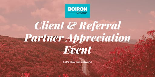 Boiron Group Monthly Client & Referral Partner Appreciation Event - Fall
