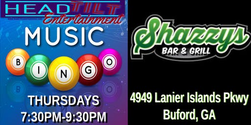 Music Bingo at Shazzy's Bar & Grill - Buford, GA