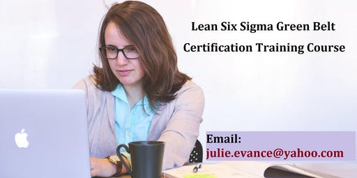 Lean Six Sigma Green Belt (LSSGB) Certification Course in Jasper, AB