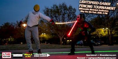 Lightspeed-saber fencing tournament