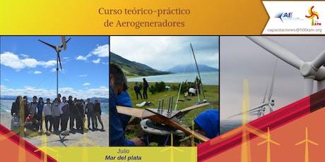 Curso Teórico Práctico de Aerogeneradores / Mar del plata 2019 entradas