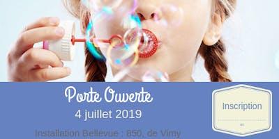 Porte Ouverte : Installation Bellevue // juillet