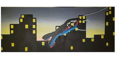 """Open Paint (15yrs+) """"Swinging Spidey"""" NEW CANVAS SIZE"""