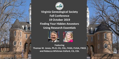 VGS Fall Conference 2019: Finding Your Hidden Ancestors Using Research Essentials tickets