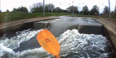 Group Kayaking Whitewater Paddle  - The Nene - private hire