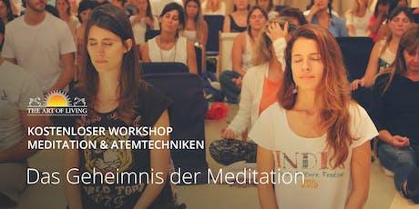 Entdecke das Geheimnis der Meditation - Kostenloser Einführungsworkshop in Frankfurt Tickets