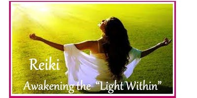 "Radiating your ""Light Within\"" - Reiki Level 3 - I AM LIGHT. Fridays May 3,10,17th"