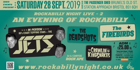 Rockabilly Night Live 2: The Jets Plus Special Guests tickets