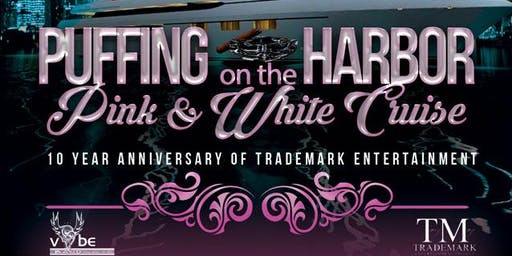 PUFFING ON THE HARBOR..PINK AND WHITE CRUISE