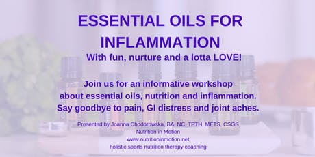 Controling Inflammation with Essential oils tickets