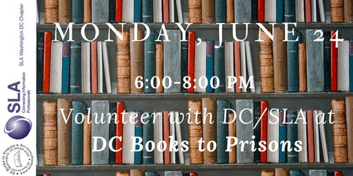 DC/SLA Volunteer Opportunity at DC Books to Prisons