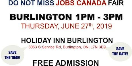 FREE: Burlington Job Fair – June 27th, 2019 tickets
