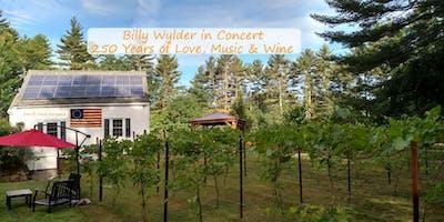 250th Brookline Anniversary Concert, Wine, Music & Love with BILLY WYLDER