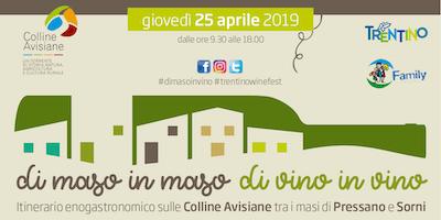 Di maso in maso di vino in vino - evento enogastronomico in Trentino