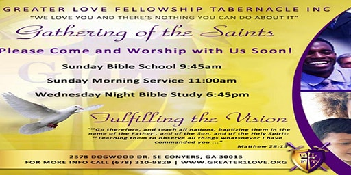 Plan A Visit - Greater Love Fellowship Tabernacle