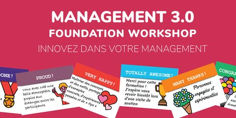 MANAGEMENT 3.0 Foundation Workshop (FR) tickets