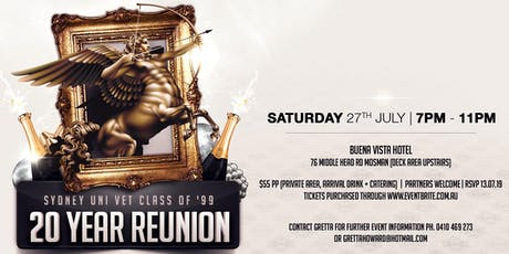Sydney Uni Vet Class of '99 - 20 Year Reunion tickets