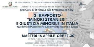 """2° Rapporto """"Minori Stranieri"""" e Giustizia Minorile in..."""