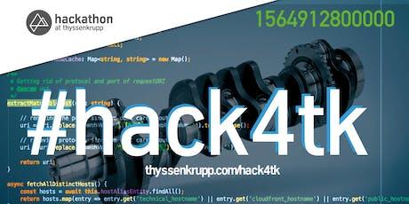 #hack4tk - thyssenkrupp Hackathon 2019 Tickets