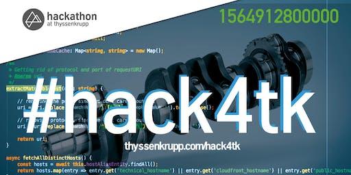 #hack4tk - thyssenkrupp Hackathon 2019