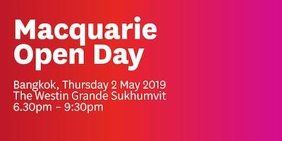 Macquarie Bangkok Open Day 2019