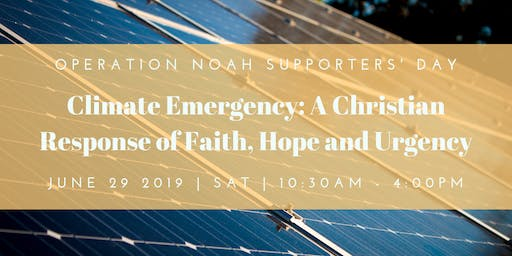 Climate Emergency: A Christian response of Faith, Hope and Urgency