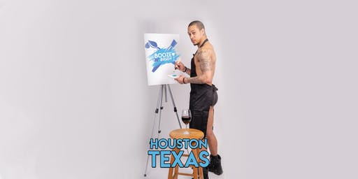 Booze N' Brush Next to Naked Sip n' Paint Houston TX- Exotic Male Model Painting Event